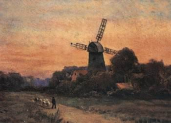 An early painting of the mill